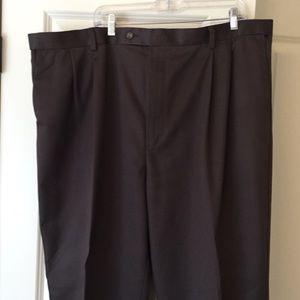 Dark brown chino pants classic fit